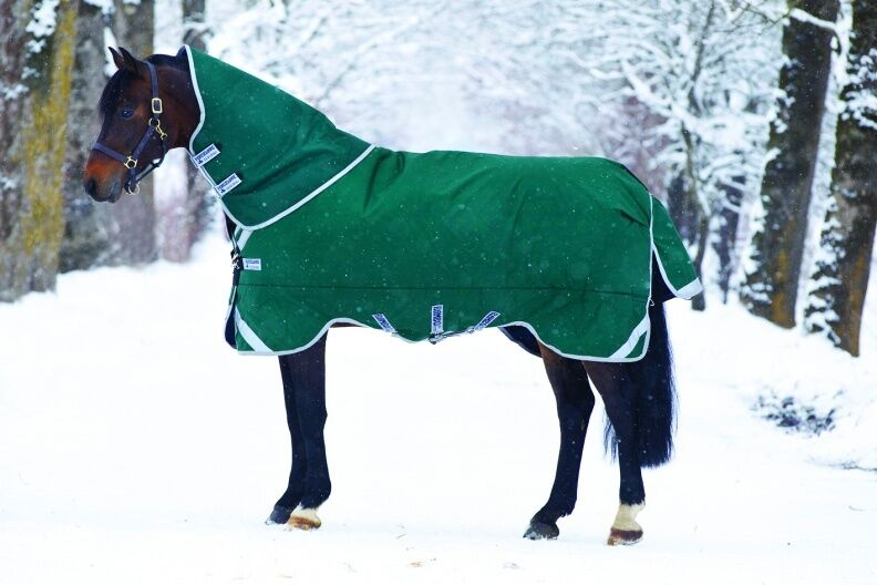 Horseware Rambo ORIGINAL TURNOUT Rug Leg Arches Heavyweight 400g Green 5'6 -7'3