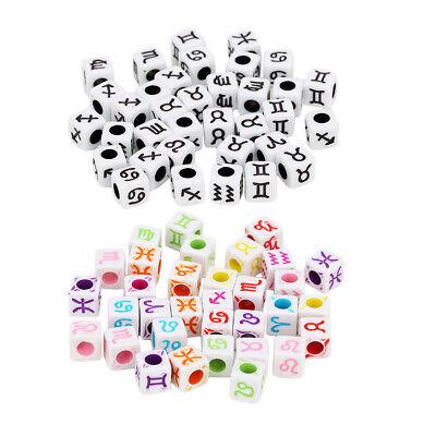100 Stück Gewürfelte Buchstaben Perlen Kunststoff Perlen Bastelperlen Bunte