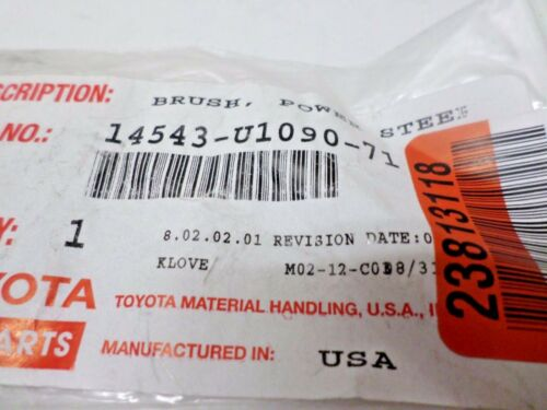 Toyota 14543-U1090-71 Power Steering Motor Brush for Forklifts NOS OPEN WORN BAG