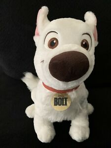 Disney Store 12 Plush Bolt Dog W Stamp Medium Stuffed Authentic Patch Ebay