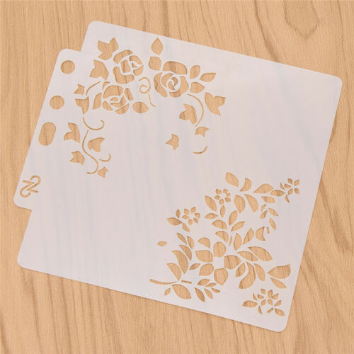 Flower Girls Pattern Template Layering Stencils Drawing Accessories DIY Craft