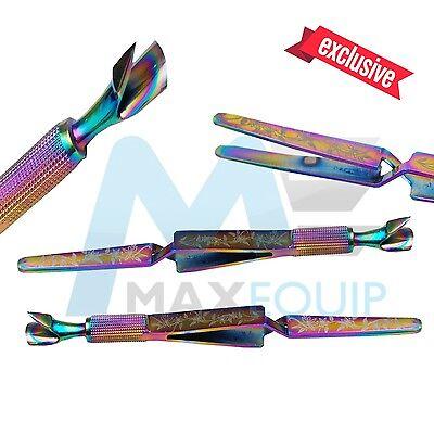ACRYLIC NAIL PINCHER Multifunction Magic Wand IRIDESCENT Cuticle Pusher Tweezer