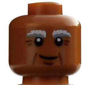Lego-Kopf-hellbraun-medium-dark-flesh-fuer-Minifigur-Vitruvius-3626cpb1122-Neu