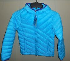 New Girls Size XS 6/6X COLUMBIA Powder Lite Puffer Jacket Coat Blue Nwt Hooded