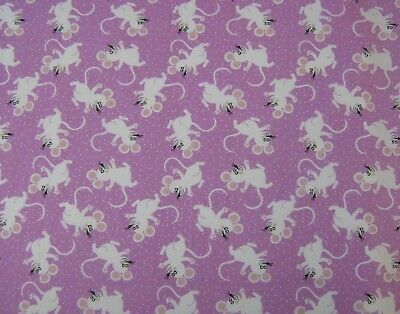 Mice Blue Polycotton Fabric 112cm wide FREE P /& P