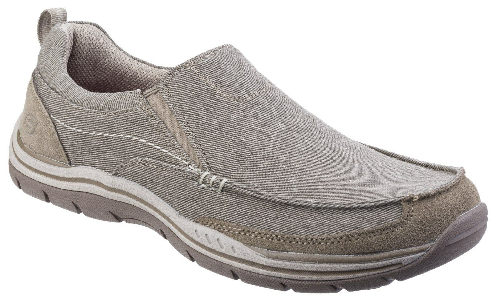Skechers Expected Tomen Mens Memory Foam Slip On Canvas Go Walk Shoes UK6-12 New shoes for men and women, limited time discount