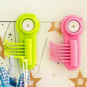 1PC Kitchen Powerful Wall Vacuum Suction Cup Hook Six Claw Plastic Hanging