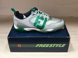 NEW FootJoy Freestyle 57331 White/Green Men's Golf Shoes 9.5W Were $190