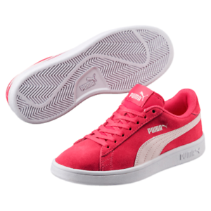 Puma Smash v2 Suede Junior Pink Girls Trainers Size UK 3.5 4 4.5 5.5 ... 143f9f52b