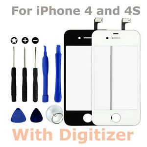 Replacement-Front-LCD-Glass-Screen-amp-Digitiser-amp-Tool-Kit-for-Apple-iPhone-4S-4G