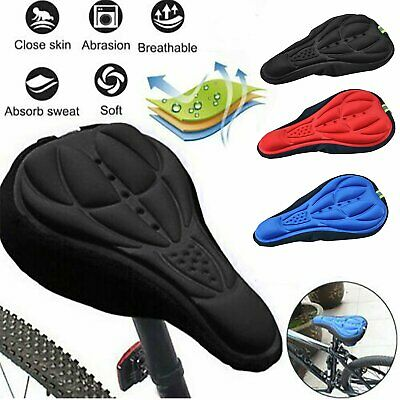 Bike Bicycle Silicone 3D Gel Saddle Seat Cover Comfort Pad Padded Soft Cushion
