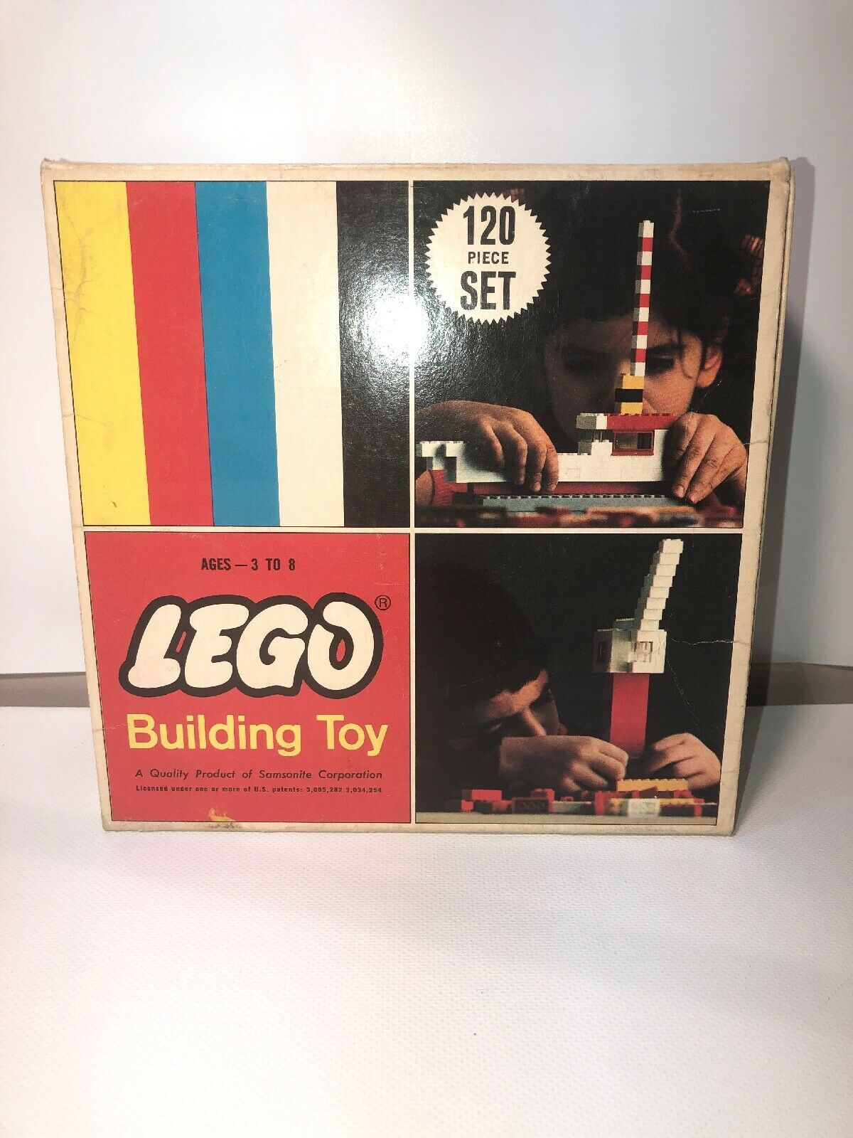 Vintage Lego Building Toy No. 120 A Product Of Samsonite