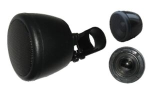 50W-Each-2-034-Motorcycle-Scooter-Handlebar-Speaker-PAIR-2-pcs-NEW-w-Bracket-ATV