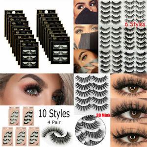 5-Pairs-Top-3D-100-Mink-Soft-Long-Thick-Makeup-Eye-Lashes-False-Eyelashes-CN
