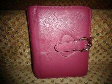 Franklin Covey Mauve Plum Purple Pebbled Leather Compact Size Snap Close Planner