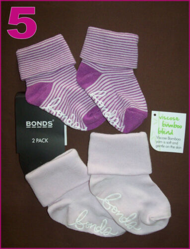 GRIP SOLE Sz 0-6m or 6-12m Boy /& Girl NEW BONDS BABY Anti-Slip Socks 2Pk Sox
