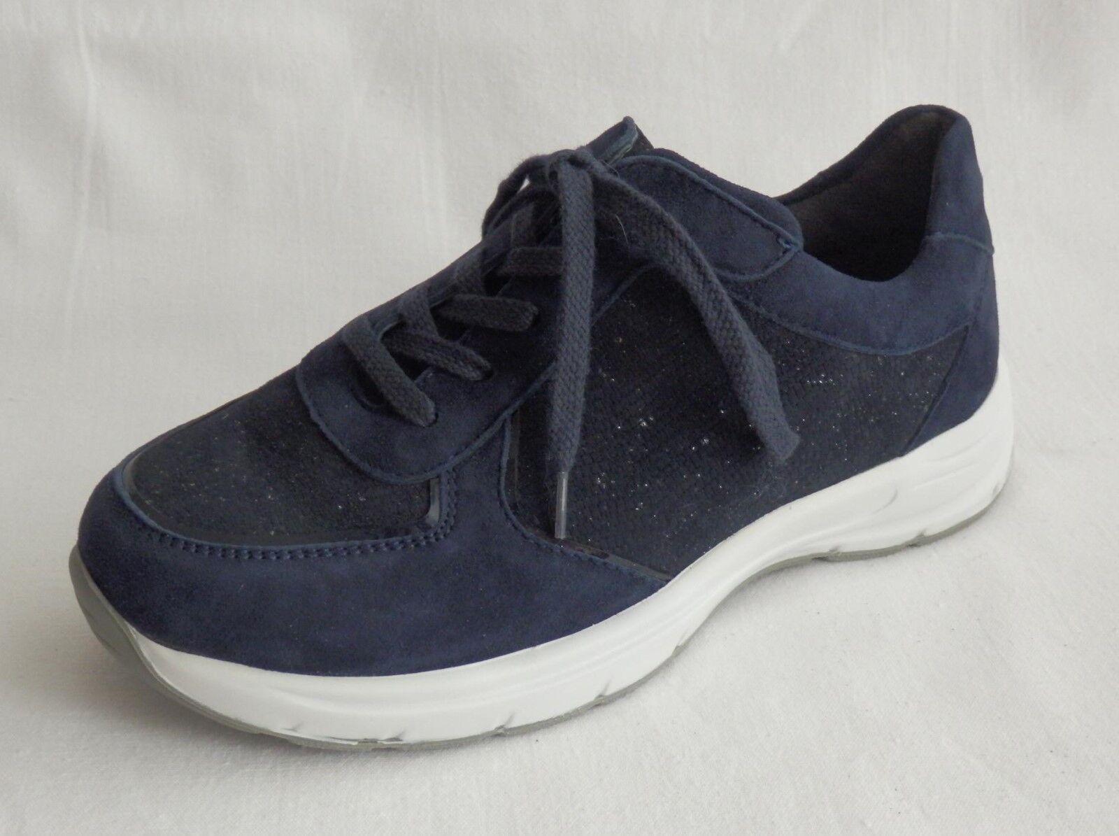 Semler Sneaker blau Leder Weite H Gr. 33 neu