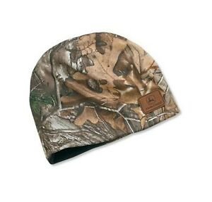 JOHN DEERE  REALTREE XTRA CAMO  TRADEMARK Logo BEANIE STOCKING HAT ... 69901359934
