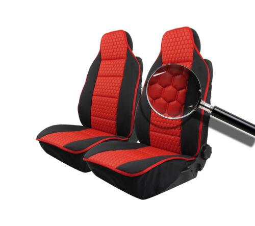 2 rojo negra fundas para asientos ya referencias de lujo nuevo para