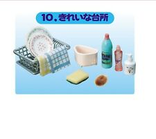 """RE-MENT """"Is Dinner Ready?"""" #10 - Dish Drainer Clean,1:6 for Barbie kitchen minis"""