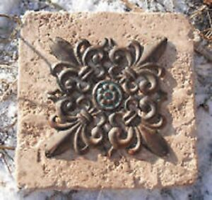 Fleur-de-lis-distressed-travertine-tile-mold-reusable-casting-mould