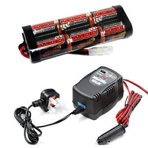 Détails sur Overlander 3300mAh 7.2 v nimh batterie pack & 1,2 ou 4A rapide Chargeur de voiture RC Tamiya afficher le titre d'origine