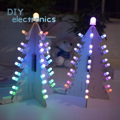 DIY Light Control Full Color LED Big Size Christmas Tree Tower Easy Make Kit US