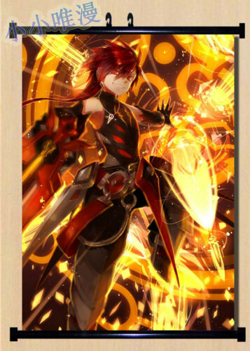 Elsword Elemental Master Wall Poster Scroll Home Decor Cosplay Anime