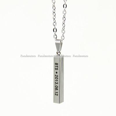 BTS Bangtan Boys Kpop Necklace Long Chain Steel Pendant For Fan Free Shipping
