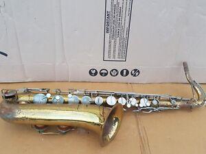 1971 Buescher Aristocrat Tenor Sax/saxophone-made In Usa-afficher Le Titre D'origine Marchandises De Haute Qualité