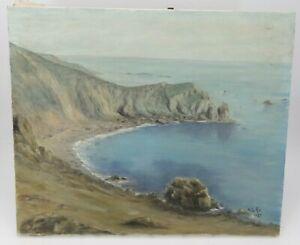 Peinture huile sur toile, bord de mer signée et datée