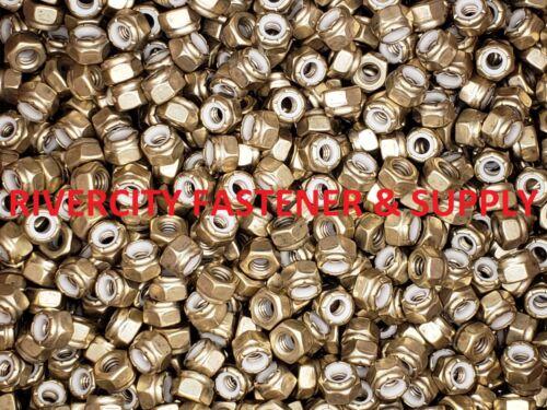 1//4 x 20 Brass Nylon Insert Lock Nyloc Nuts 1//4-20 Nut nylock 50 Stop