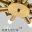 thumbnail 4 - Modern Crystal Gold Chandelier Round Glass Dining Room Living Light Fixture