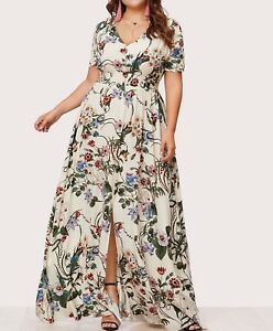 Plus Size Maxi Dress a Line