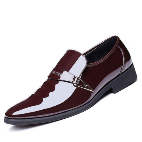 Slip On Wedding Patent Leather Oxford Shoes For Men Dress Shoes Zapatos Hombre