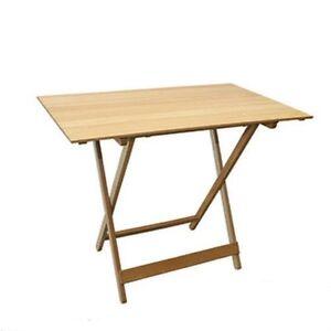 Tavoli Pieghevoli In Legno.Dettagli Su Tavoli Tavolo Pieghevole Per Giardino Terrazzo In Legno Naturale 80 X 60 Cm