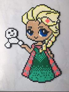 Détails Sur Pixel Art Perles A Repasser Elsa La Reine Du Printemps De Disney Princesses