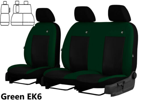 FORD TRANSIT CUSTOM VAN 2013 PRESENT ECO LEATHER TAILORED SEAT COVERS