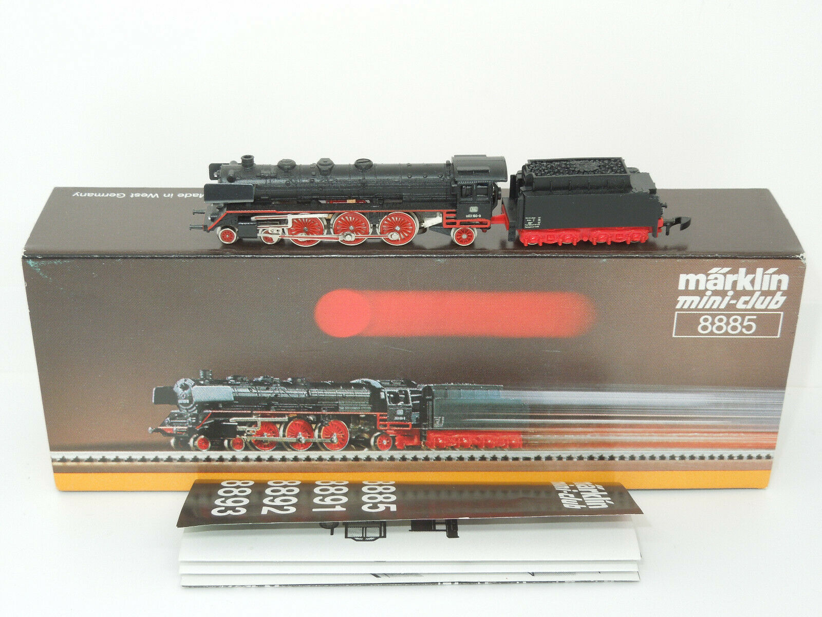 Märklin Mini-Club 8885 Steam Locomotive BR 003 the DB Unflattened