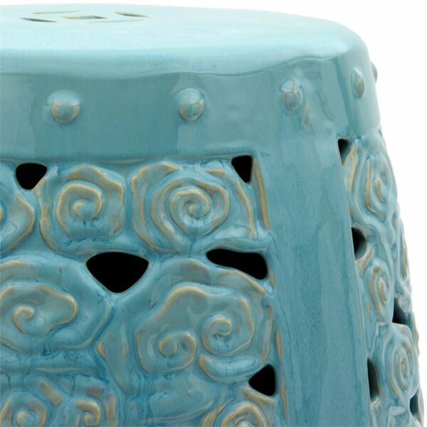 Oriental Furniture Carved Clouds Porcelain Garden Stool