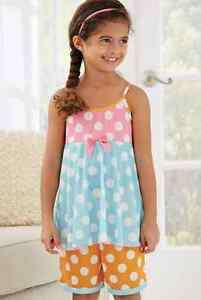 Fancy Girls Pajamas LAURA DARE 2T-14 Boutique Dots Flowers Ruffles ...