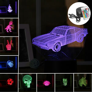 3D-LED-Night-Light-Color-Change-Panel-Remote-Control-bluetooth-Table-Desk-Lamp