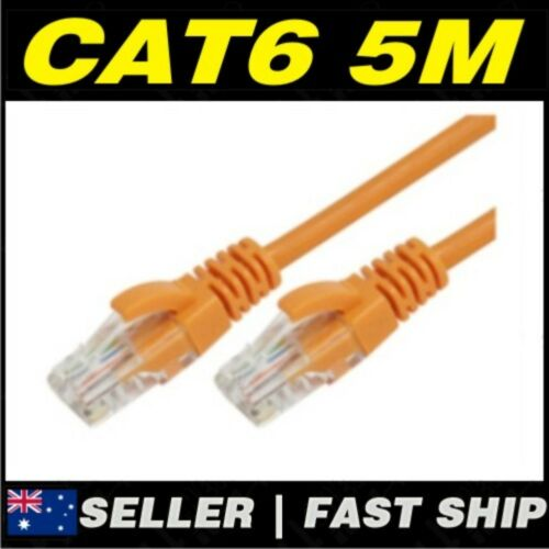 1 x 5m Orange Cat 6 Cat6 1000Mbps Premium RJ45 Ethernet Network LAN Patch Cable