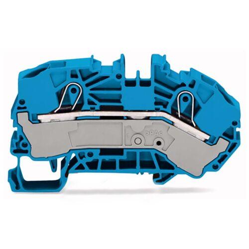 WAGO Einspeisereihenklemme Verteiler blau 2016-7604 Profiware für Elektriker