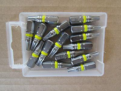 15 TORX 20 Bits TX S2 Stahl, für Aku Schrauber Schraubendreher Bit-Box Bit-Satz