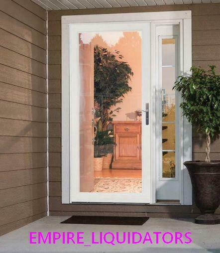 Larson 14606032 Mid View Storm Door 36 In W X 81 In H Glass White For Sale Online Ebay