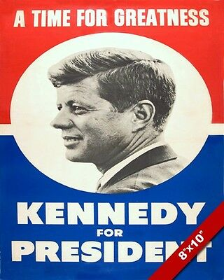JFK JOHN F KENNEDY PRESIDENTIAL ELECTION CAMPAIGN POSTER REPRINT ON REAL CANVAS