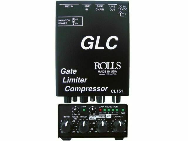 Rolls CL151 GLC Gate and Compressor/Limiter With Microphone