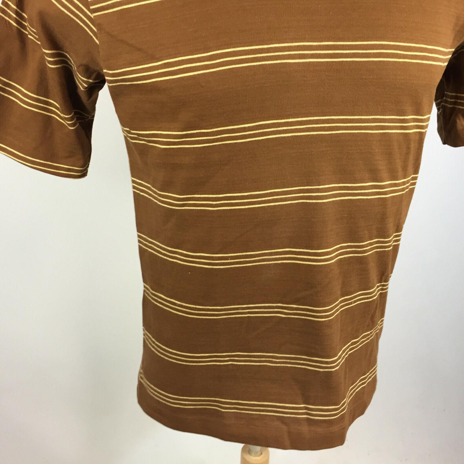 Vintage 50s 60s Shelfield Knit Surf Stripe Brown … - image 5