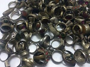20-pcs-Ring-ANTIQUE-Afghan-Kuchi-Banjara-Ethnic-Old-Antique-Nomad-Wholesale